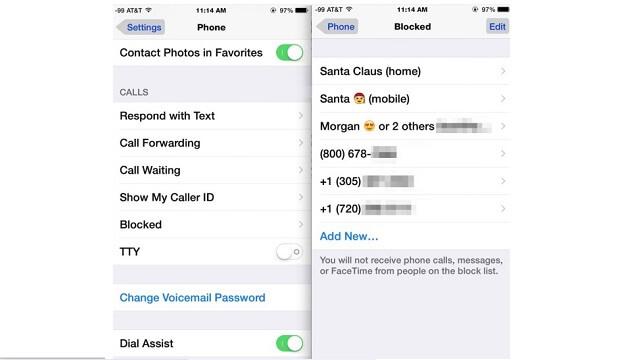 Cómo desbloquear las llamadas de alguna persona en tu iPhone