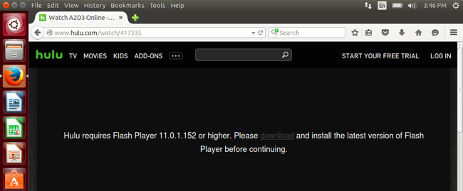 Hulu Firefox Adobe Flash2