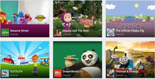 adquirir la aplicación YouTube Kids